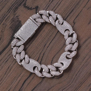 16mm Cuban Diamond Bracelet