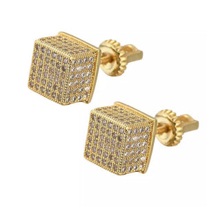 Square Cubic Zircon Earring