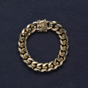 Cuban Silver And Gold Plated Bracelet