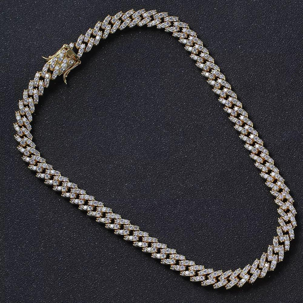 Cubic Zircon Hand Setting Gold Plated Chain