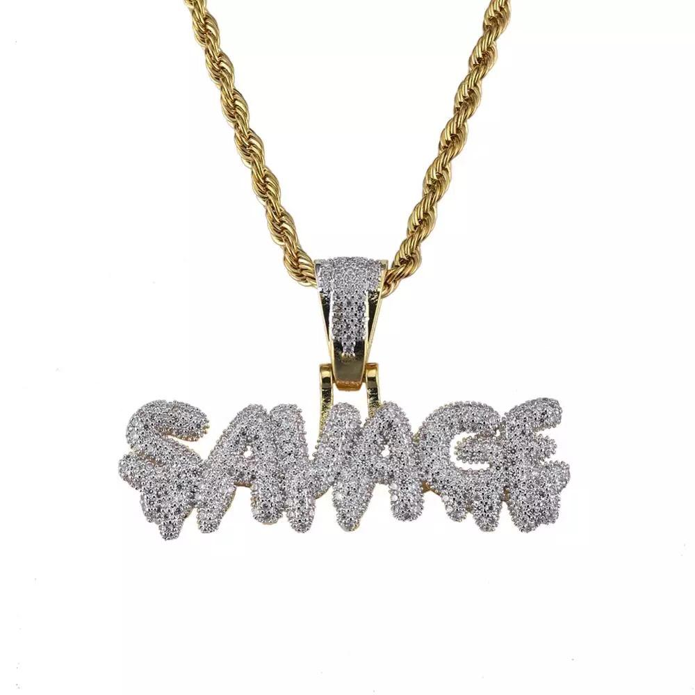 Zircon Stoned Gold Plated (savage)Pendant