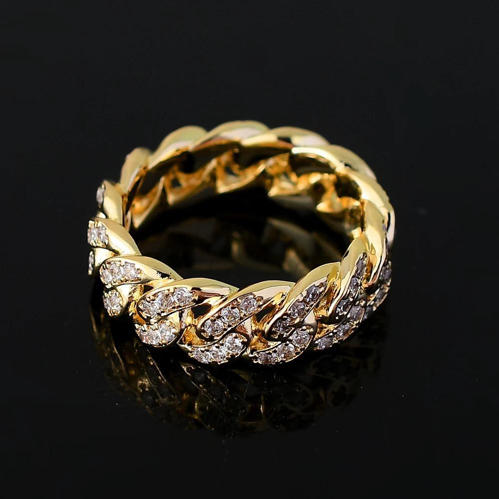 Cuban Men And Women Cubic Zircon Iced Out Ring