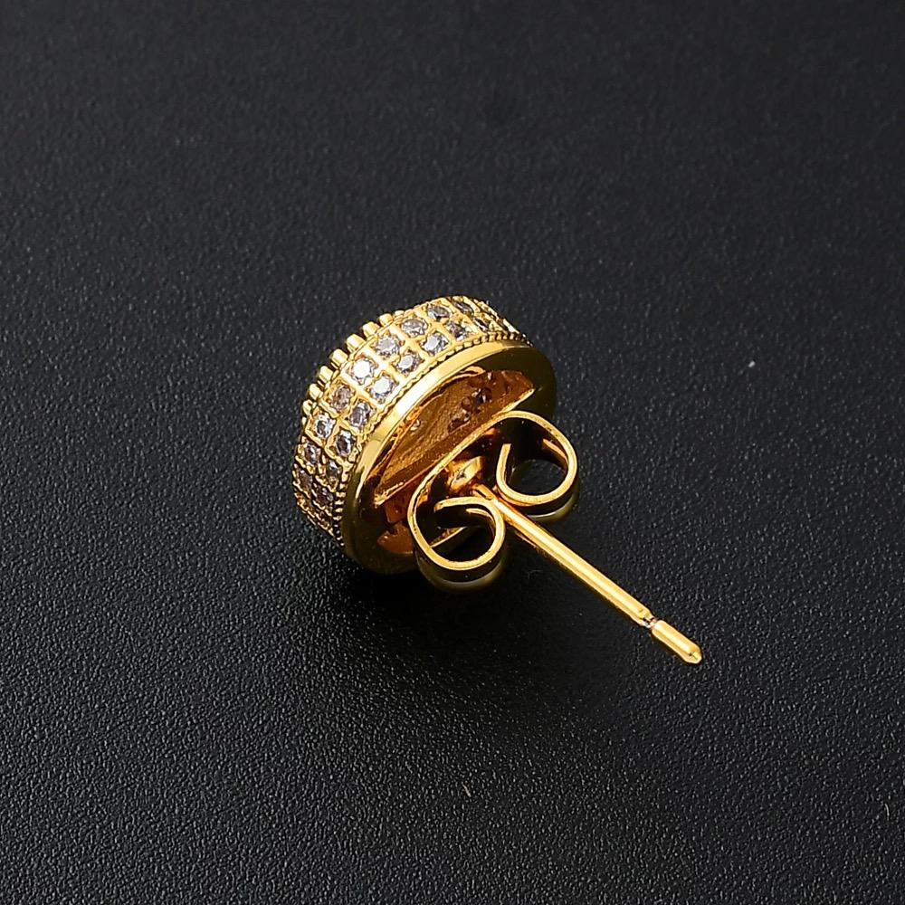 Round Gold Plated Earring