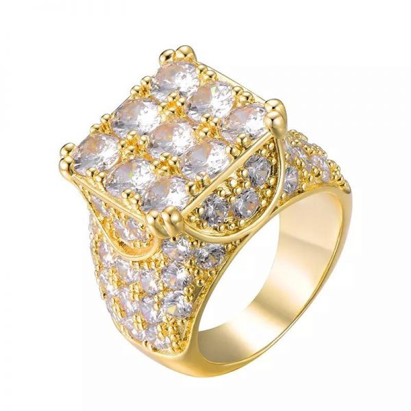 Square Cubic Zircon Stone Rings