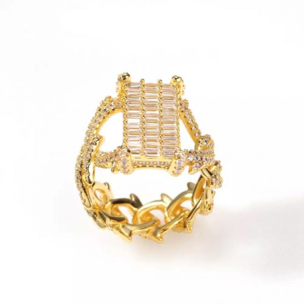 Rectangle Cubic Zircon Stone Ring