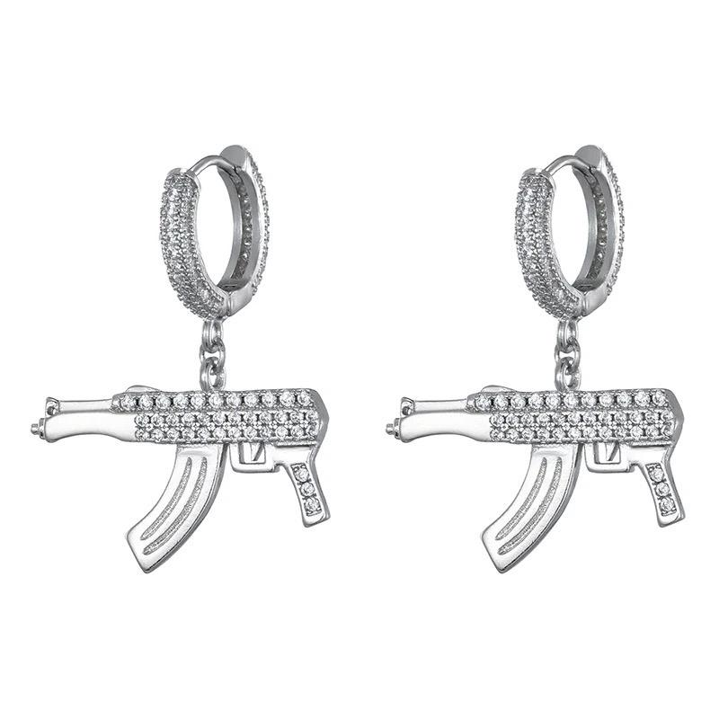 Zircon Stoned Iced Out Earring