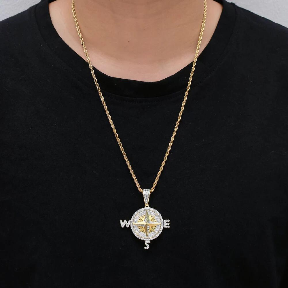 Zircon Stoned Gold Plated Pendant