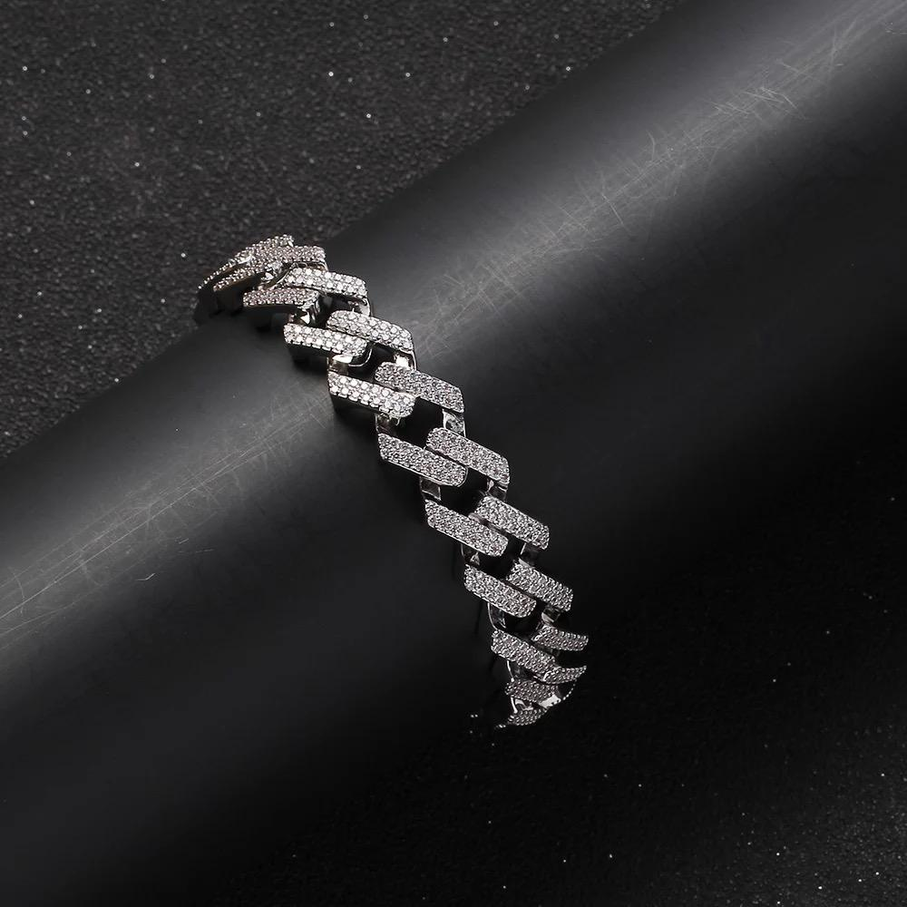 10mm diamond prong Cuban Bracelet
