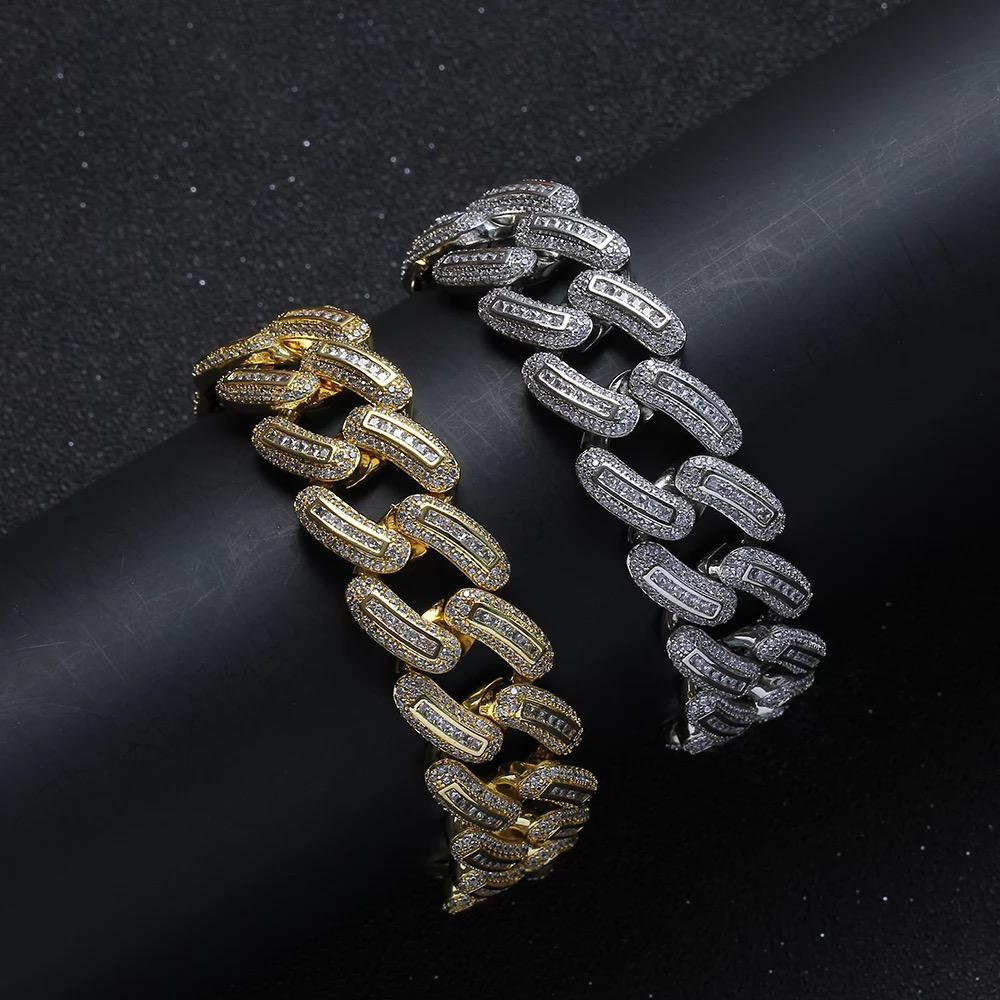 20mm Diamond Cuban Bracelet