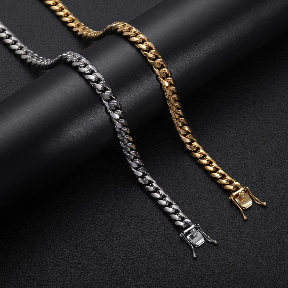 18kGold Plated/Silver Cuban Chain