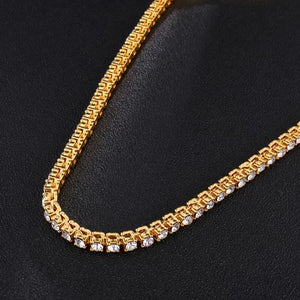 Iced Out Gold Plated Tennis Chain Necklace