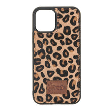 "Lade das Bild in den Galerie-Viewer, iPhone 12 | 12 Pro 6.1"" Leder Case ""Secret Wallet"" (Leopard)"