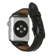 "Lade das Bild in den Galerie-Viewer, Apple Lederarmband ""Slim"" (Series 1-6) (Schwarz)"