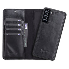 "Lade das Bild in den Galerie-Viewer, Galaxy S21 Plus  Leder Case ""Secret Wallet"" (Schwarz)"