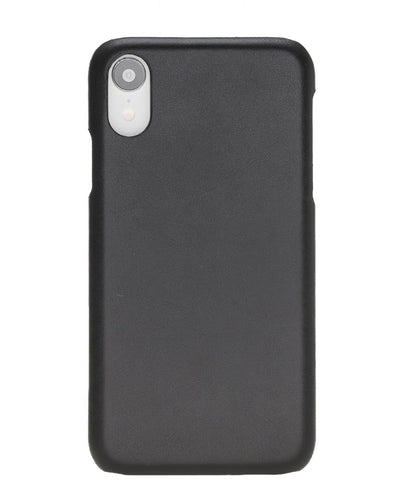 Ultra Slim Cover iPhone XR Handyhülle Lederhülle - Schwarz-0