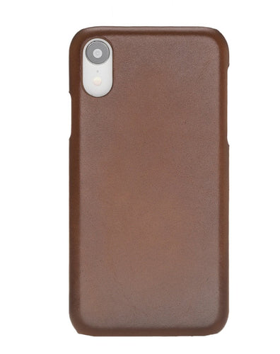 Ultra Slim Cover iPhone XR Handyhülle Lederhülle - Cognac Braun-0