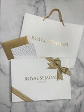 Load image into Gallery viewer, Taupe Gold Rococo Royal Sejadah Luxury Prayer Set