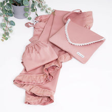 Load image into Gallery viewer, Vintage Rose Luxury Satin Girls Kids Prayer Clothes Set
