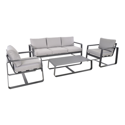 Image of Belezza Loungeset  (Aluminium - Antraciet)