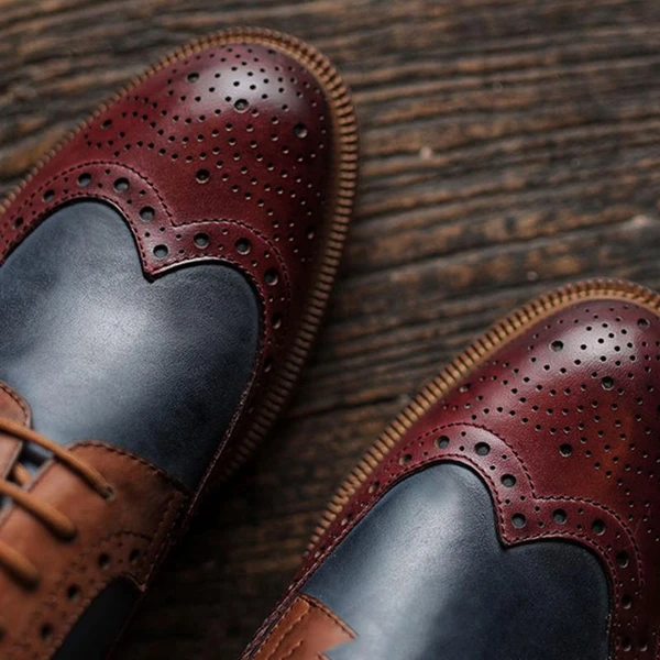 Men's Retro Brogue Shoes
