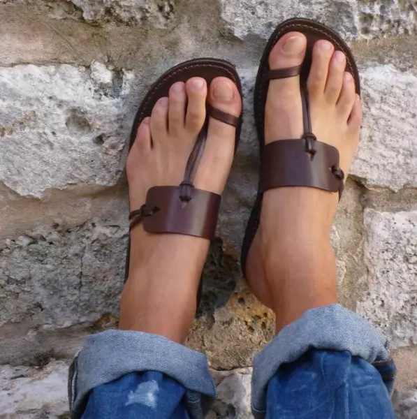 Summer Men's Retro Roman Style Leather Sandals[BUY 2 ENJOY EXTRA 20% OFF]
