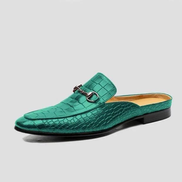 Hot Sale Fashion Crocodile Pattern Backless Loafers