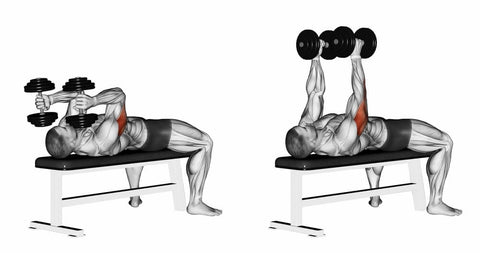 Lying-triceps-extensions-with-dumbbells