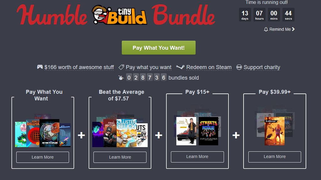 The Humble tinyBuild Bundle introduces a very solid lineup