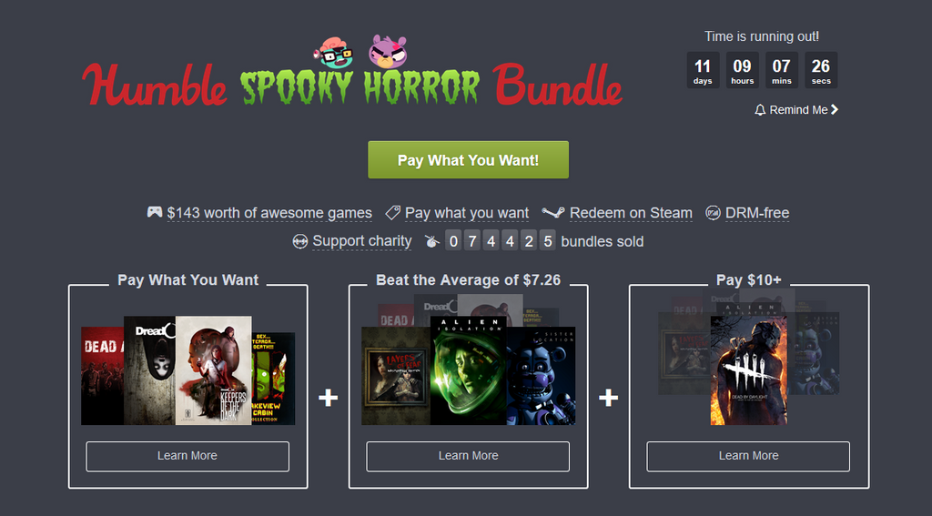 Awaken your worst nightmares with Humble Bundle's Spooky Horror Bundle