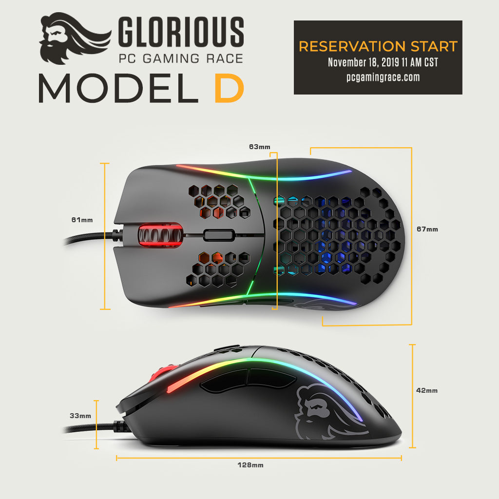 Glorious Model D - Dimensions