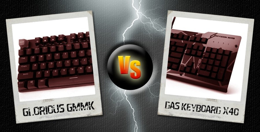 Mechanical Keyboard Battle: Glorious GMMK VS. Das Keyboard X40