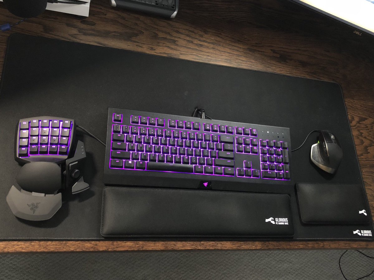 Another amazing photo of our wrist rests and mousepad.