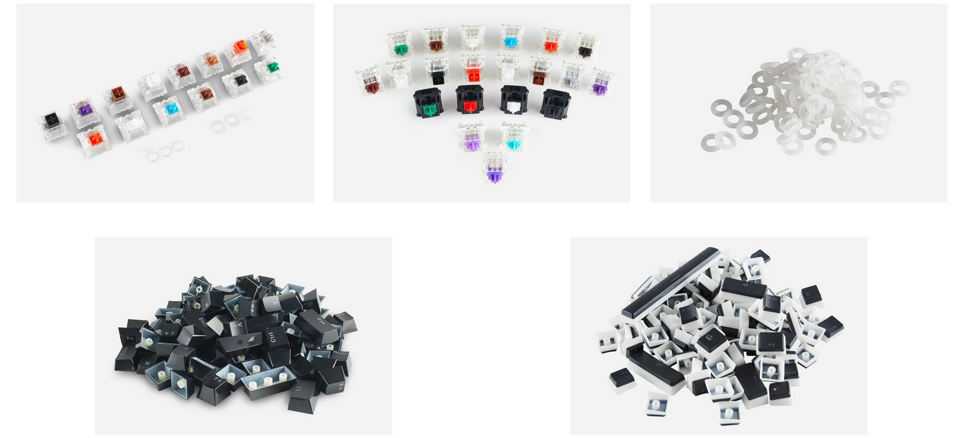 We offer a bunch of cool mechanical keyboard accessories.