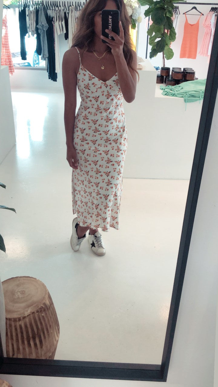 SUNDAZE SPLIT MIDI DRESS