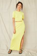 Load image into Gallery viewer, THIRD FORM -DUNES RIB KNIT MAXI SKIRT SUN