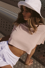 Load image into Gallery viewer, TERRY CROP TOP - LIGHT PINK