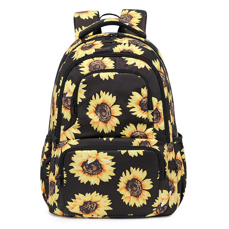 Sunflower Backpack Lightweight Laptop Bag Large Capacity Kid Adult Use Home Outdoor