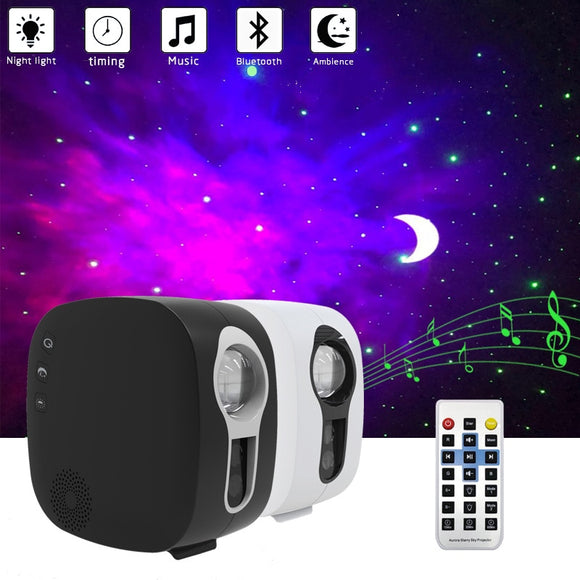Bluetooth starry sky Projector LED Night Light Projector Galax Nebula Ocean Music Speaker Control Star Projector Moon Night Lamp