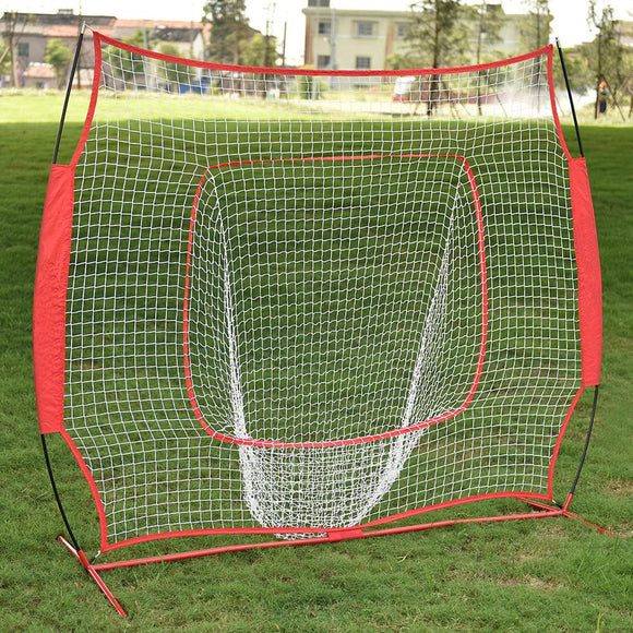 Baseball Train Net Rack Rebound Goal Red Sleevelet