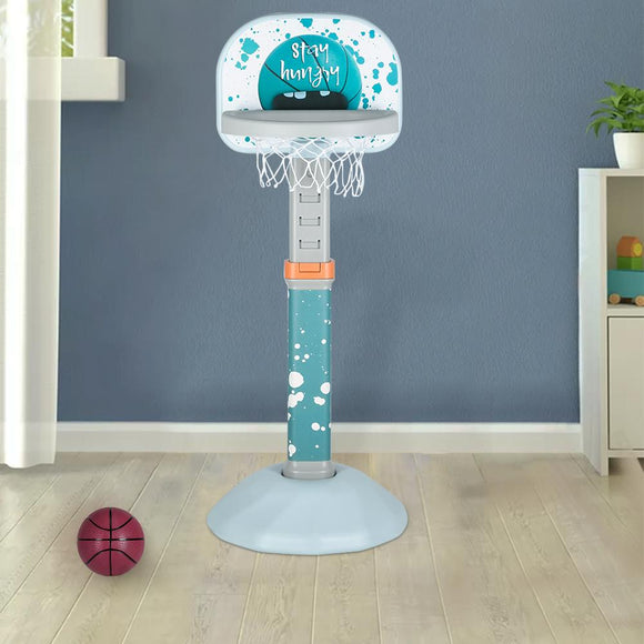 Indoor and Outdoor Height Adjustable Basketball Hoop with Ball / Pump Blue