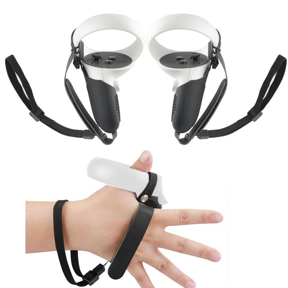 5in1 Knuckle Strap+Grip Cover+Hand Strap+VR Lens Dust cover+Thumb Button Cap for Oculus Quest 2 VR Controller Accessories
