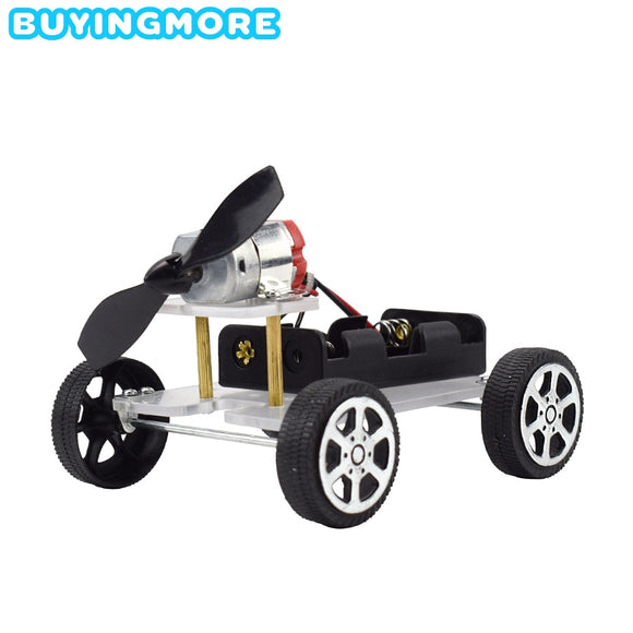 DIY Electronic Power Car Technology Science Experiment Kit Learning Physics Toy STEM Kit Educational Toys for Children 8 Years