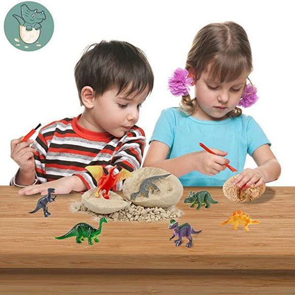 Dinosaur Toys Dino Egg Dig Kit Kids Gifts Break Open Unique Dinosaur Eggs Cute Archaeology STEM Toys Gifts for Boys Girls Toys - STEM K12