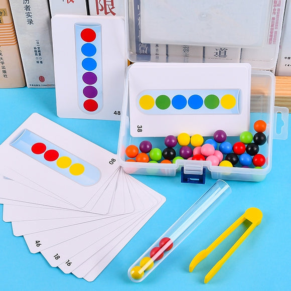 Clip beads test tube toy children logic concentration fine motor training game Montessori teaching aids educational toy for kids
