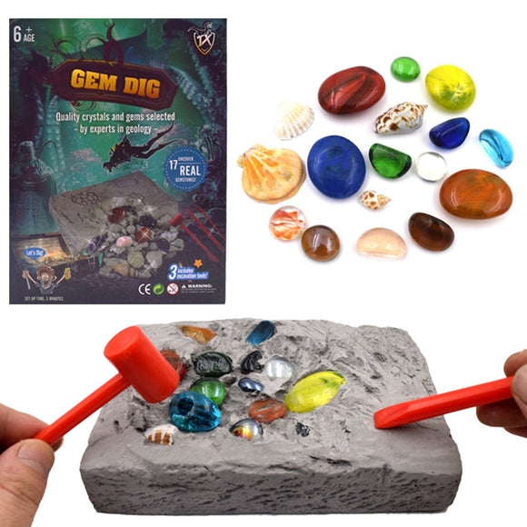 Gem Dig Kit Dig Up 17 Gems STEM Science & Educational Toys make Great Kids Activities