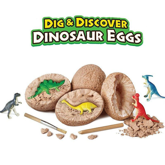 Dinosaur Toys Dino Egg Dig Kit Kids Gifts Break Open Unique Dinosaur Eggs Cute Archaeology STEM Toys DIY for Boys Girls Toys - STEM K12