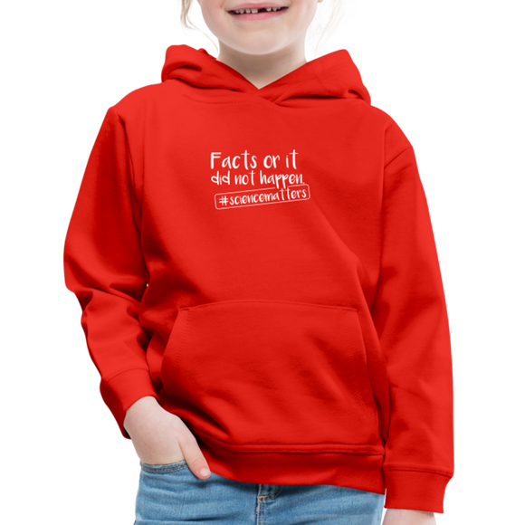 Science matters Kids' Premium Hoodie - red