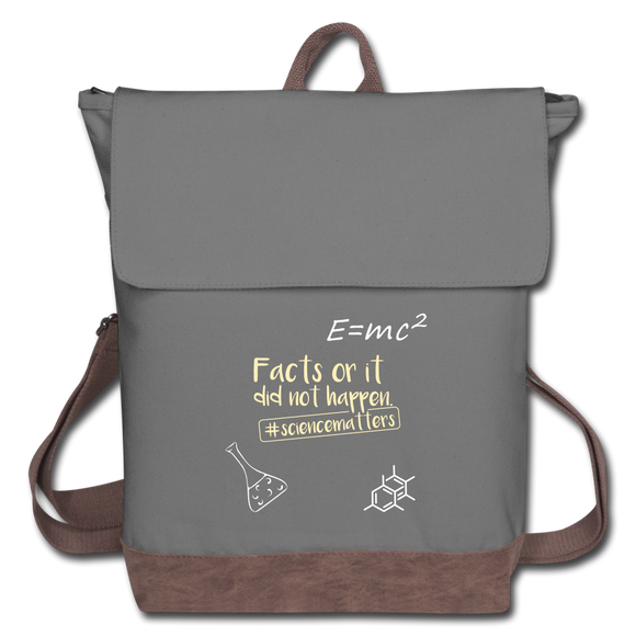 Science Matters Canvas Backpack - gray/brown