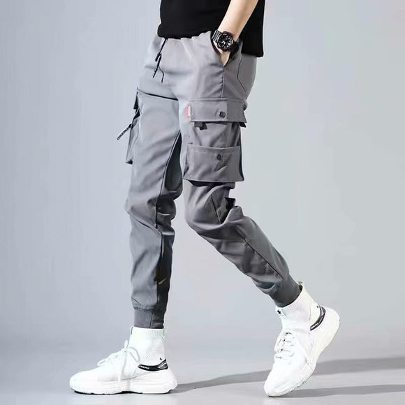 Men's Side Pockets Cargo Harem Pants 2020 Hip Hop Casual Male Tatical Joggers Trousers Fashion Casual Streetwear Pants