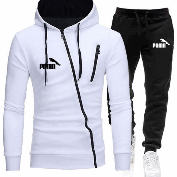 2020Autumn and winter new men's suit sportswear 2-piece hoodie + pants jogging fitness sportswear pullover track suit sweater